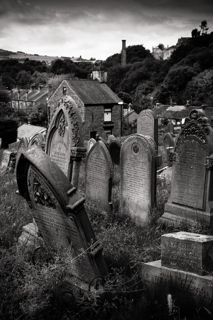 An abandoned cemetery, St Georges Road, New Mills, Derbyshire. UK - In Loving Memory 3 - Garry Platt
