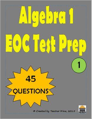 Algebra 1 end of course practice test florida