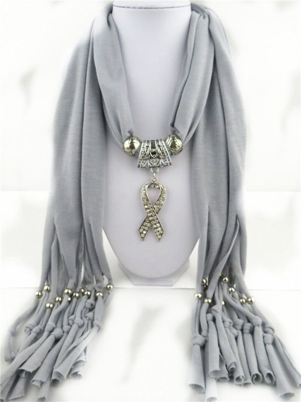Aids Ribbon Shiny Jewelry Pendant Scarves Online