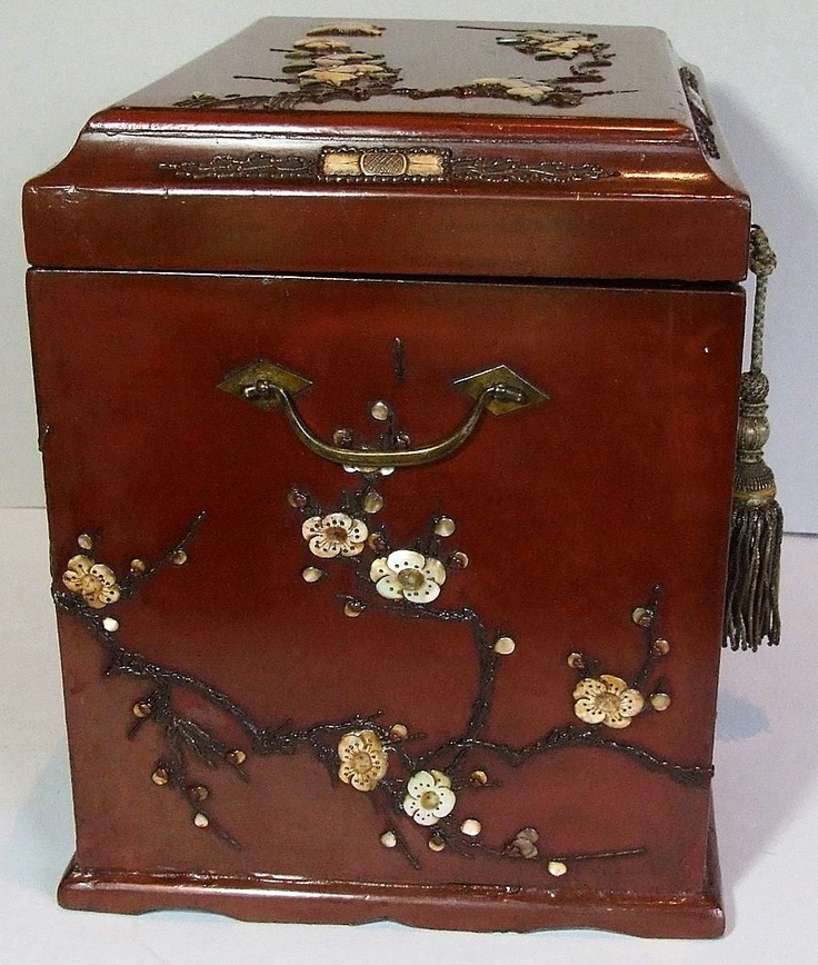 Beautiful Antique Chinese Wood Table Cabinet from decorantiquaire on Ruby Lane