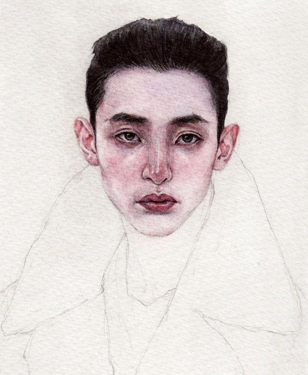 Face #2 by Nikolay Tolmachov, via Behance