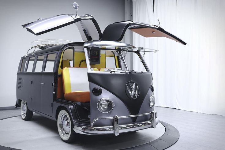 The Back to The Future 1967 VW Bus by Velocity Motors. One can never go wrong with gullwing doors and a flux capacitor-loaded love bus
