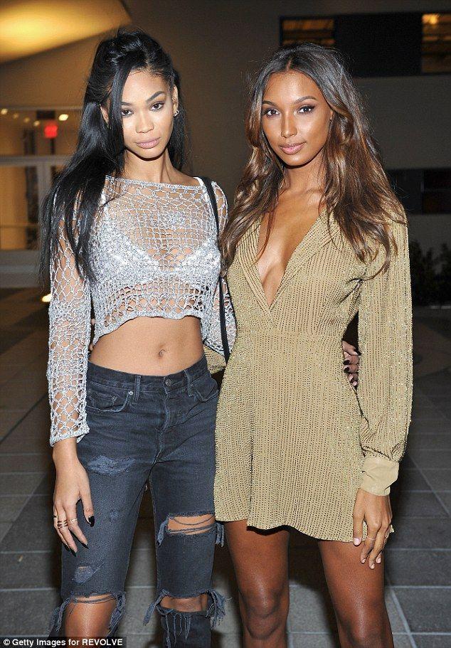 Hailey Baldwin And Chanel Iman Look Chic At Revolve Bash
