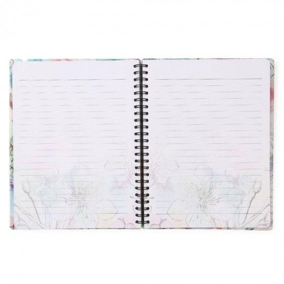 Wild Blossom A5 slim ruled notebook