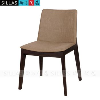Scandinavian furniture wood dining chair fabric Japanese Ikea beech dining table chairs minimalist designer Restaurants Cafes