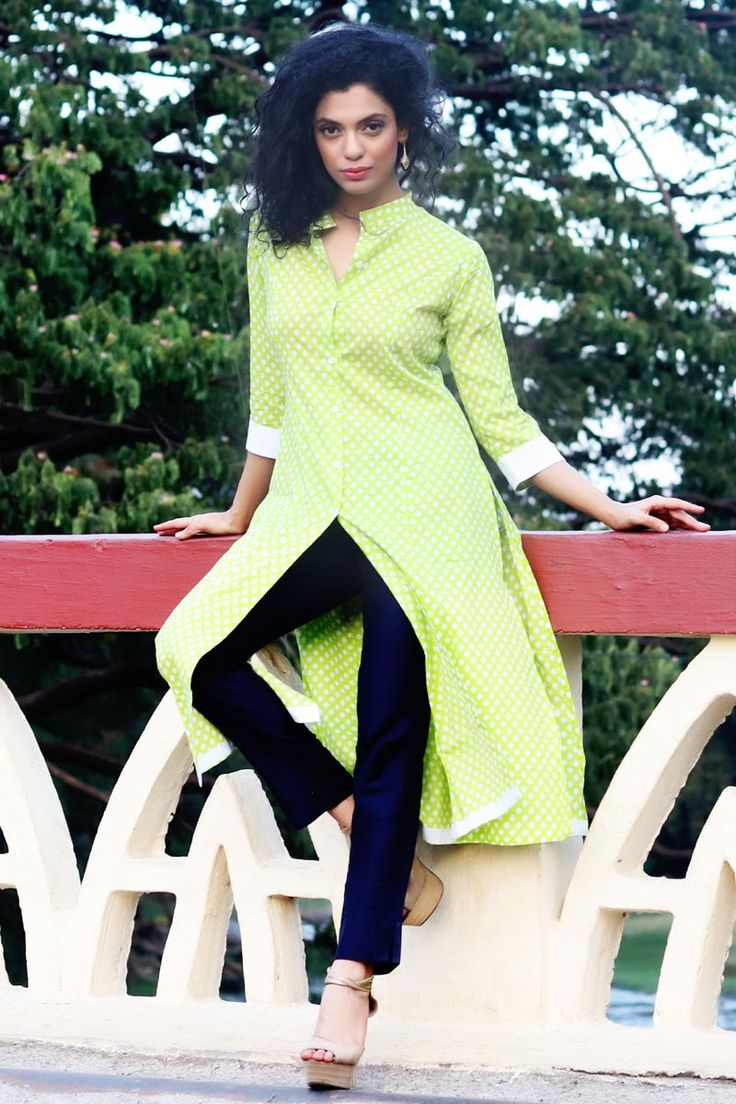 #Lalgulal New Light #Green #Cotton Fancy #Readymade #IndoWestern #Kurti Buy Now :- http://goo.gl/9jq7r1 To Order you Call or Whatsapp us on +91-95121-50402. COD & Free Shipping Available only in India.