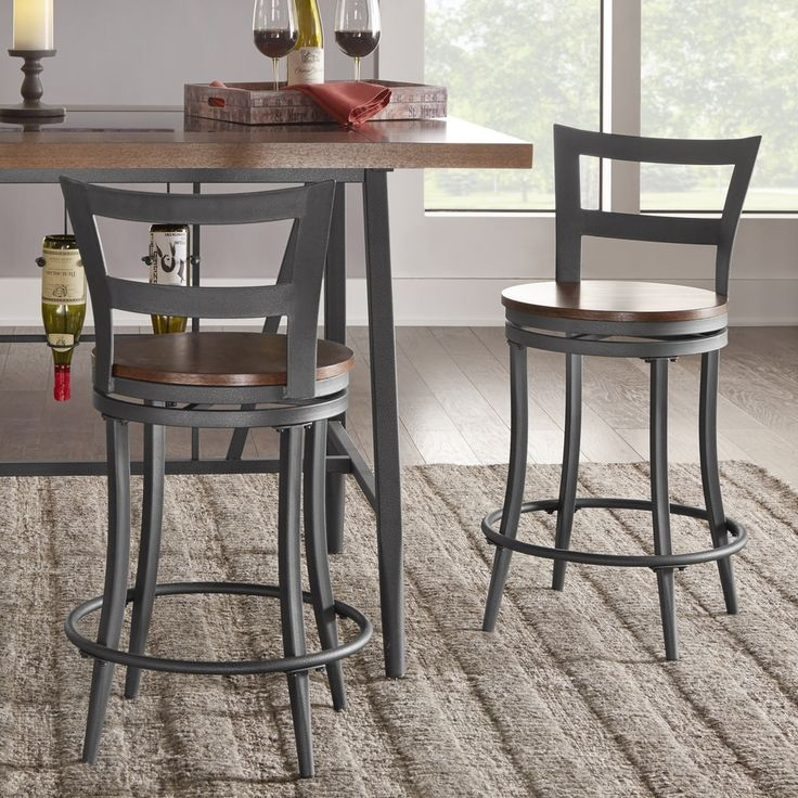 Thompson Counter Height Swivel Stools Set Of 2 By