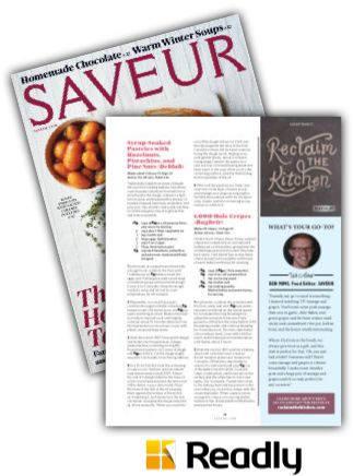 Suggestion about Saveur December 2015 page 31