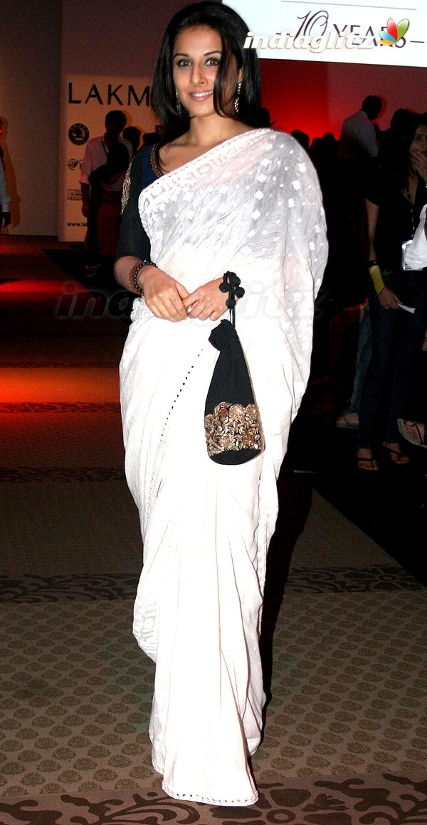 Vidya in white.