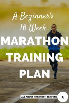 This beginner marathon training schedule is a 16 week plan designed for beginner runners who want to run their first marathon. #trailrunningbeginner
