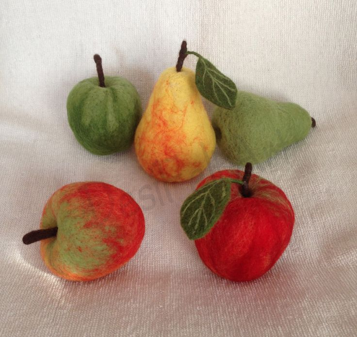 Real Size Needle Felted Fruits