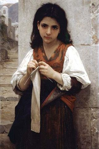 The Little Knitter. High quality vintage art reproduction by Buyenlarge. One of many rare and wonderful images brought forward in time. I hope they bring you pleasure each and every time you look at t