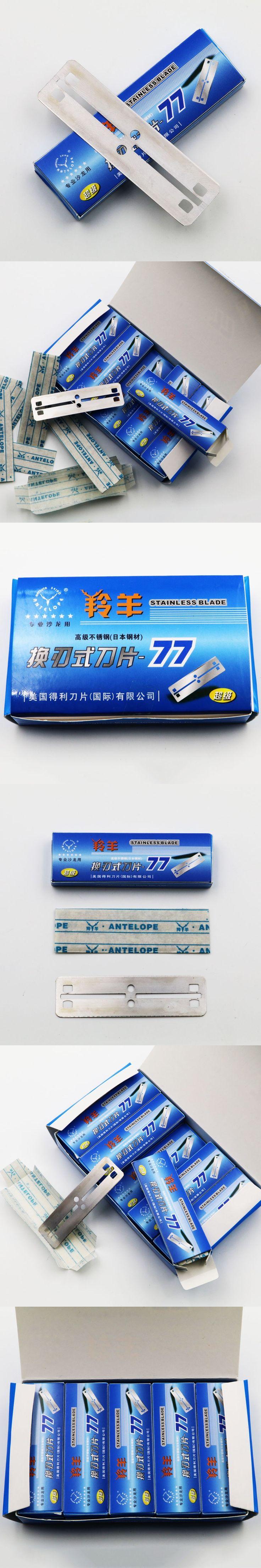 100 Pcs Antelope Super-77 Razor Blades Brand Stainless Steel Safety Razor Blades To Shave Blade To Razor For Men Barber Blade