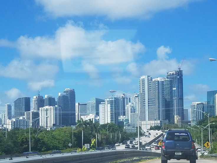 Miami- High rise building. Know as the beach and party city of Florida! :)