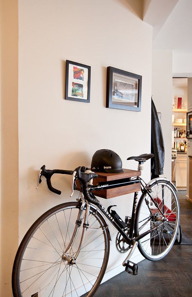 IF YOU HAVE TO HAVE YOUR BIKE IN THE HOUSE... MAKE IT FUNCTIONAL