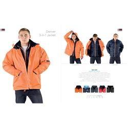 Branded US Basic Denver 3-In-1 Jacket | Corporate Logo US Basic Denver 3-In-1 Jacket | Corporate Clothing