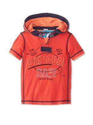 69% OFF Desigual Kid's Short Sleeve Hoodie (Red)
