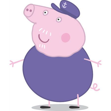 Peppa Pig, cartone animato, famiglia di Peppa Pig, nonno Pig