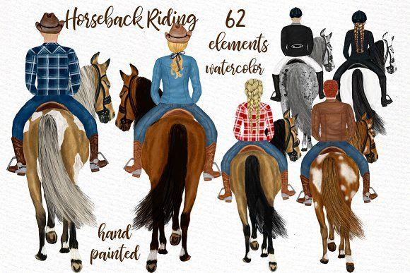 Horseback Riding Clipart Horse Png Clip Art Horseback Riding Illustration Design