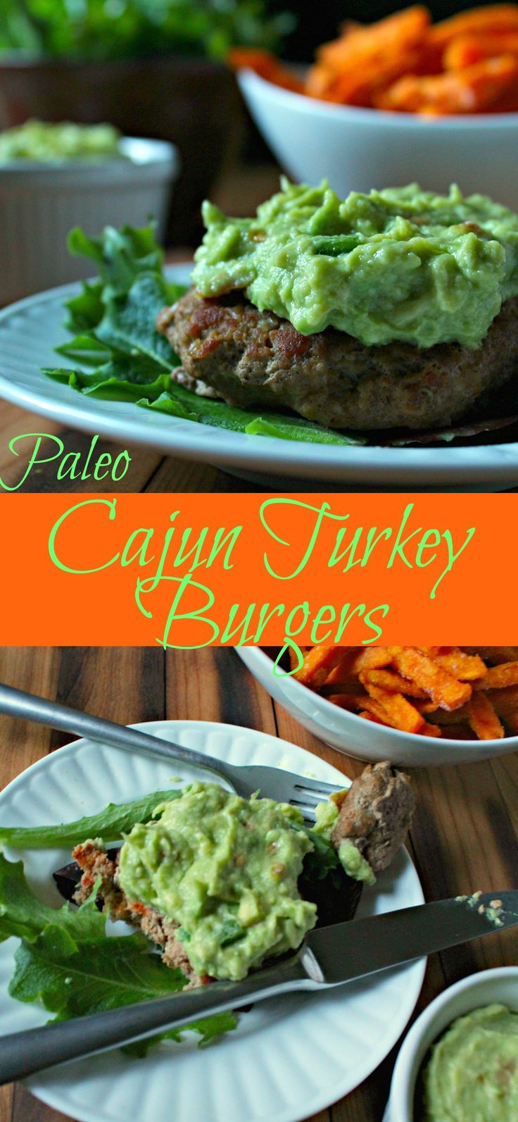 Paleo Cajun Turkey Burgers with Guacamole makes me dream of warmer weather and grilling out!