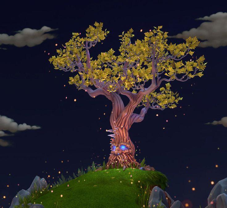 Tree Ent Game Environment, Hung Tu on ArtStation at https://www.artstation.com/artwork/04Q5E