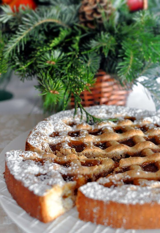 Linzer Torte (an almond and rasberry tortel is eaten for the holidays in Germany although the name is from Tate Linze, Austria.~J