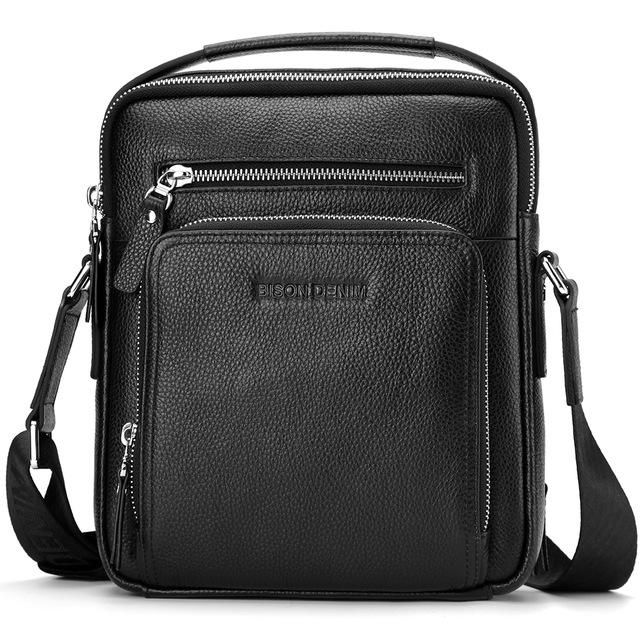 Genuine Leather Men Bags Ipad Handbags Male Messenger Bag Man Crossbody  Shoulder Bag Men s Travel Bags N2333-1 869d6418c3a3e