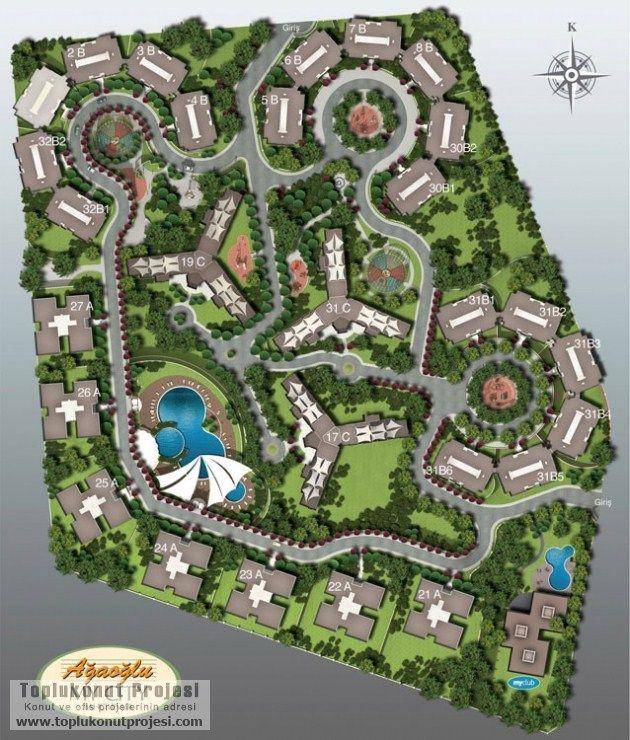 Ağaoğlu : My City vaziyet planı - Toplu Konut Projeleri
