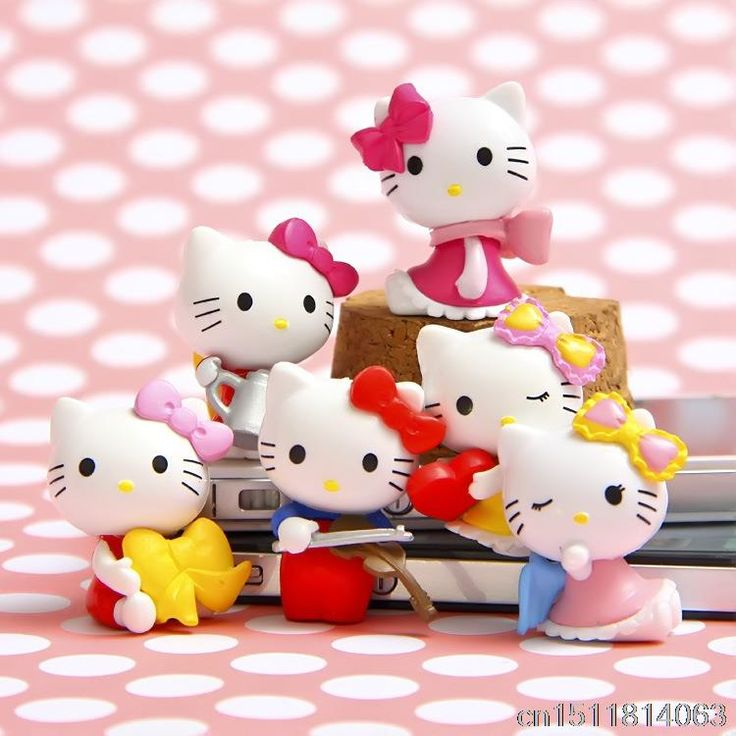 6Pcs/lot Anime Cartoon Blink HELLO KITTY Figures Kitty PVC Cut Action Figure Toys Model Dolls Great Gift 3.5cm //Price: $US $4.37 & FREE Shipping //     #toys