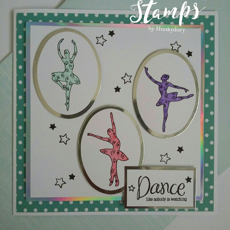 Fir the Love of Stamps Twirling Ballerinas stamp set #fortheloveofstamps #twirlingballerinas #kuretake