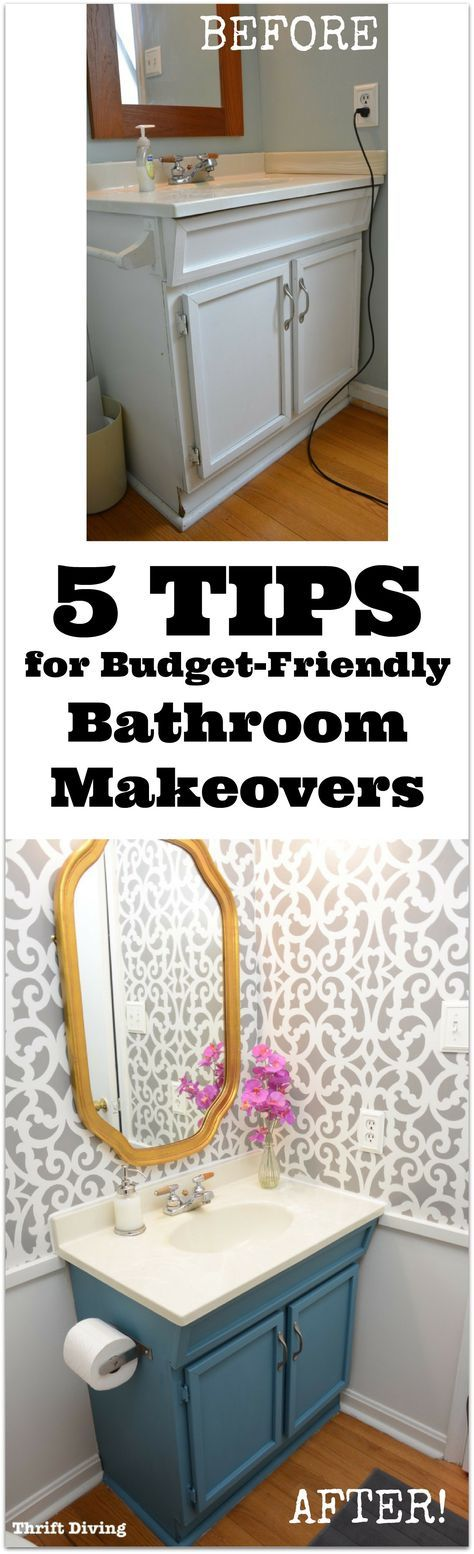 5 Tips For Budget Friendly Bathroom Makeovers Bathroom Makeovers Don T Have To