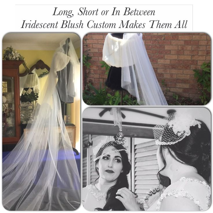 "Veils by Leeanne ✿⊱╮ Iridescent Blush ""The Bride's Finishing Touches!"" ~Message Me for Custom Orders~ m.me/IridescentBlush"