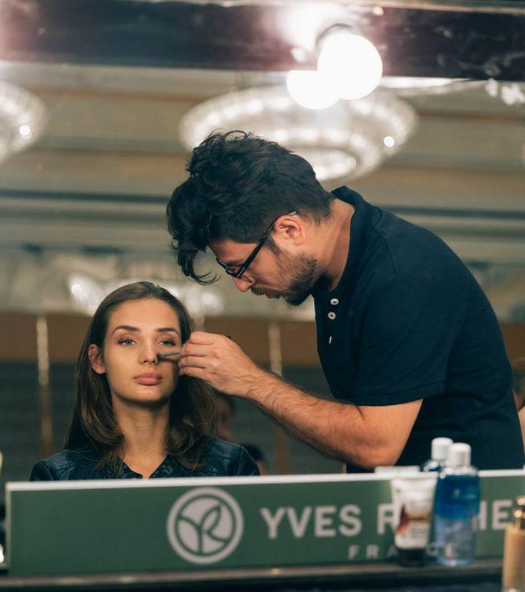 #mango #yvesrocher #makeup #backstage #supermodel