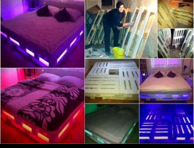 Comment faire un lit lounge 8 palettes 1 fil de lumière