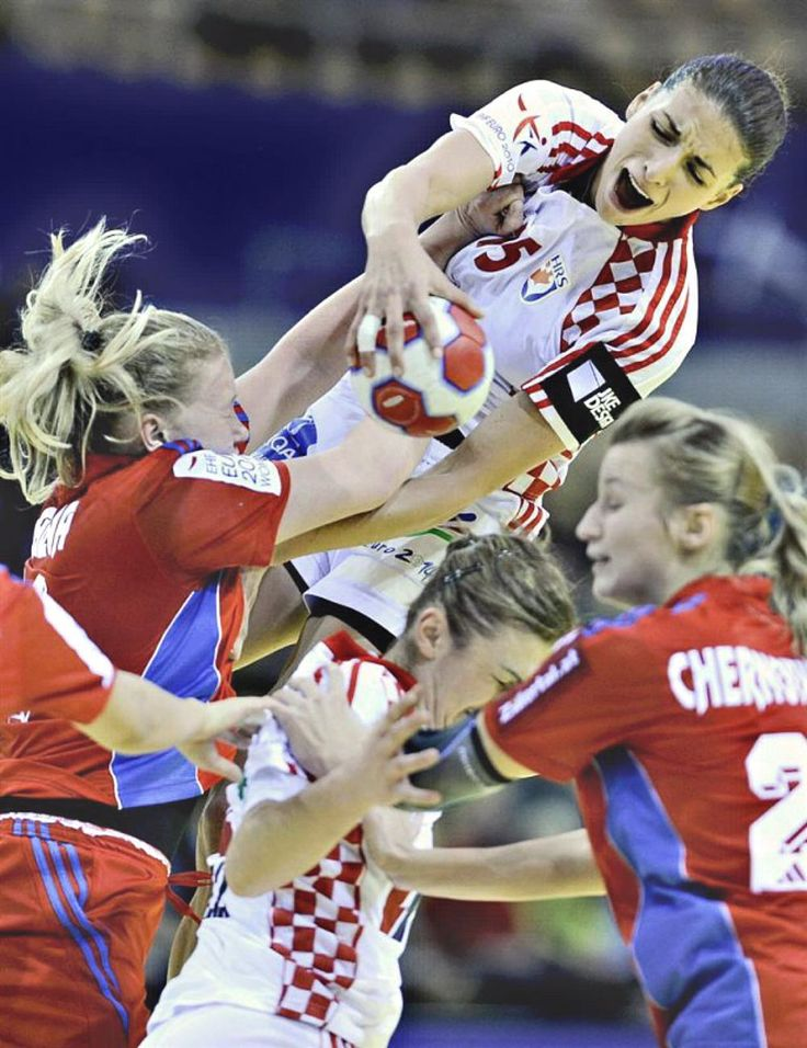 Russia vs Croatia European Womens Handball Championship