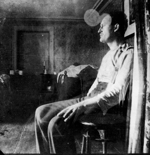 Edvard Munch in the studio.