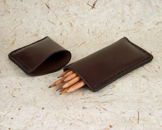 Leather Pencil Case in handstitched saddlery leather. £36.00