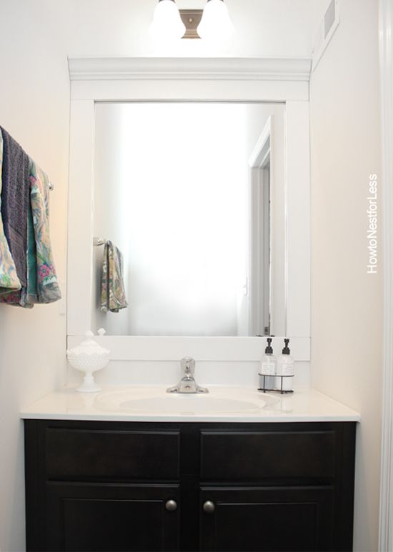 How To Frame A Bathroom Mirror Bathroom Mirrors Nest And Powder Room