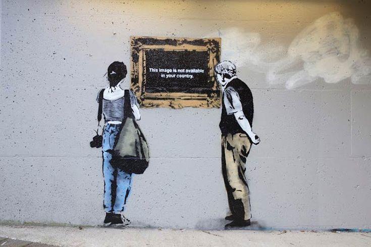 """"""" Cette image n'est pas disponible dans votre pays."""" / Street art. / Vancouver. / Canada. / By IHeart."""