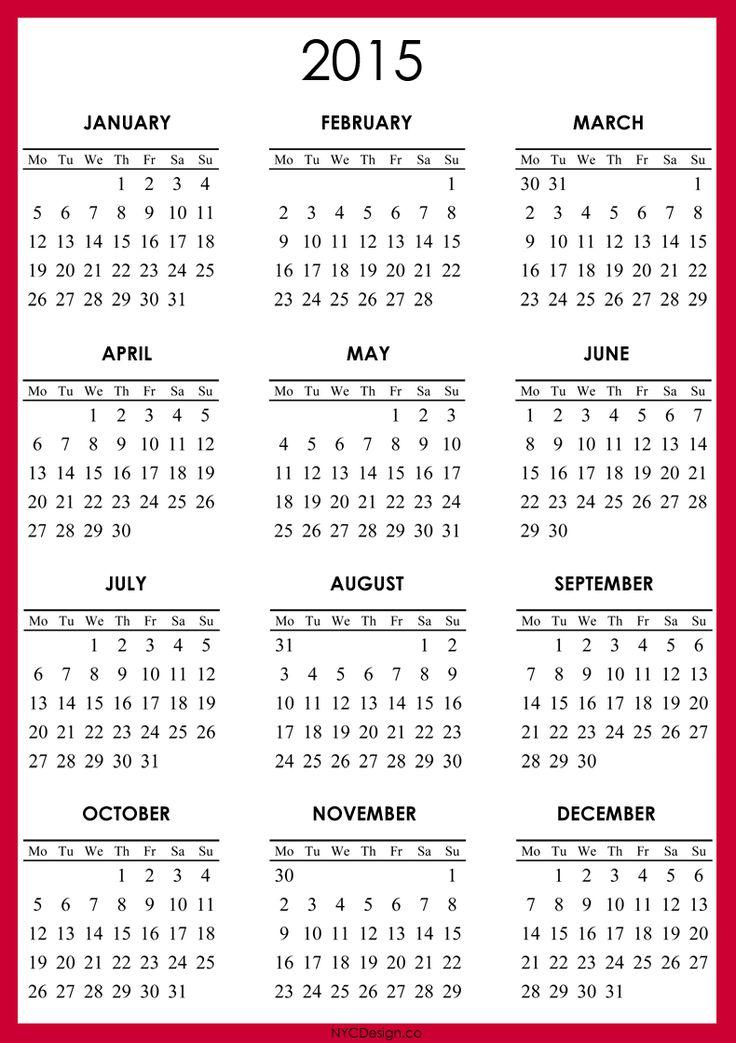 Best 25+ 2015 calendar printable ideas on Pinterest