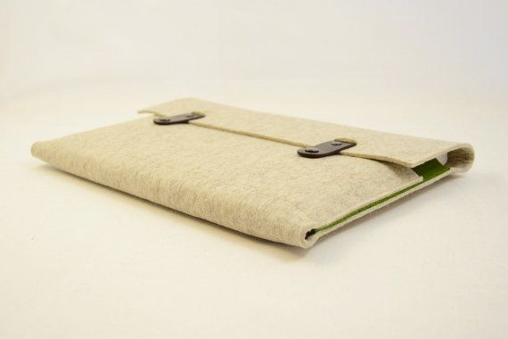 Macbook pro 15 Macbook Sleeve Wool Felt Bag with Genuine Leather Handle for Macbook pro 15