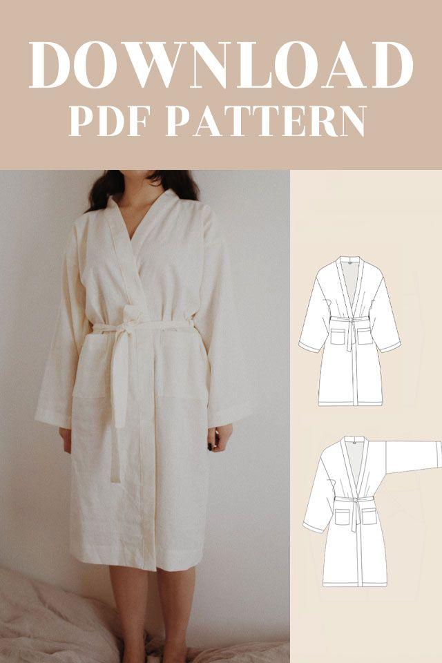 Kimono Robe Sewing Pattern Free : kimono, sewing, pattern, Camilla, Kimono, Digital, Pattern, Sewing, Patterns, Pattern,, Dress, Free,, Jacket