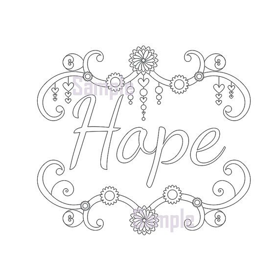 hope coloring pages - photo#20