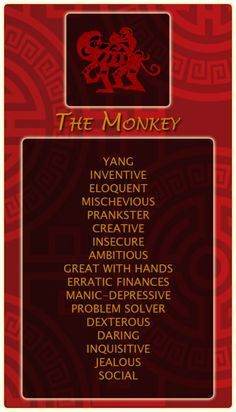 Year of the Monkey attributes