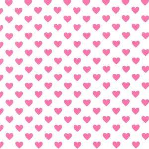 Princess Land - Tkanina bawełniana - Różowe serduszka