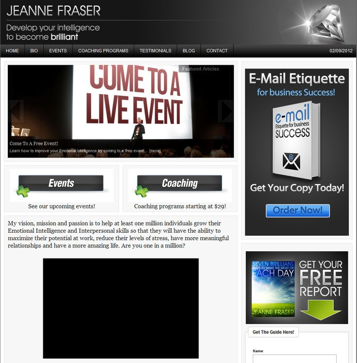 #Jeanne Fraser was one of the more fun clients to work with. We built JeanneFraser.com.