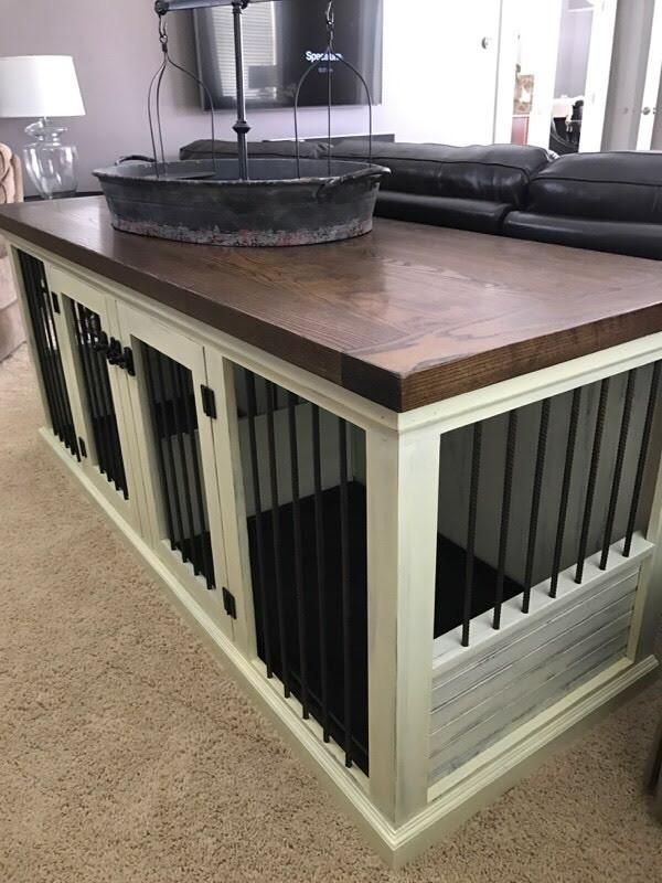 Farmhouse Double Dog Kennel In 2019 Dog Rooms Diy Home