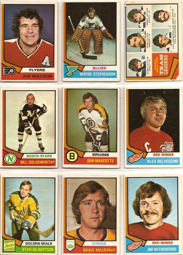 217-225 Joe Watson, Wayne Stephenson, Maple Leafs Leaders, Bill Goldsworthy, Don…