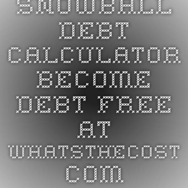 Best 25+ Debt snowball calculator ideas on Pinterest Pay off - debt payoff calculator