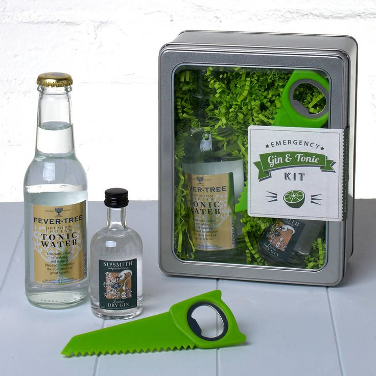 'emergency gin and tonic' kit by whisk hampers   notonthehighstreet.com
